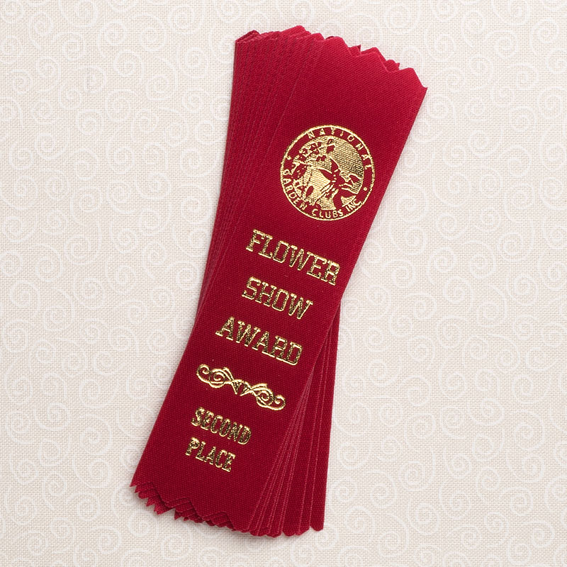 """10 Pack 4"""" Second Place Red Ribbons"""