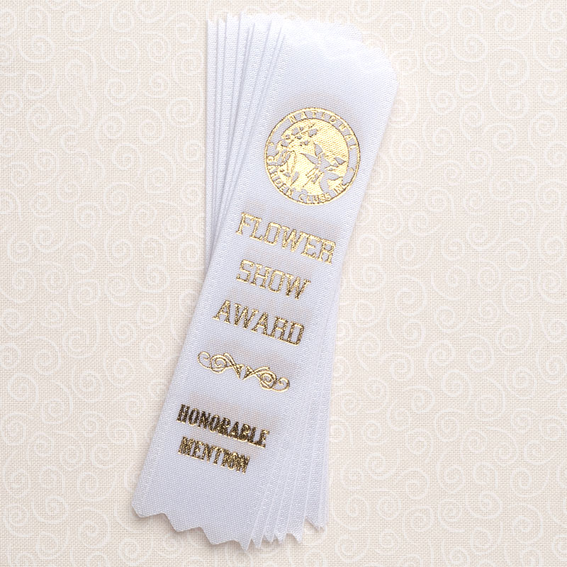 "10 Pack 4"" Honorable Mention White Ribbons"