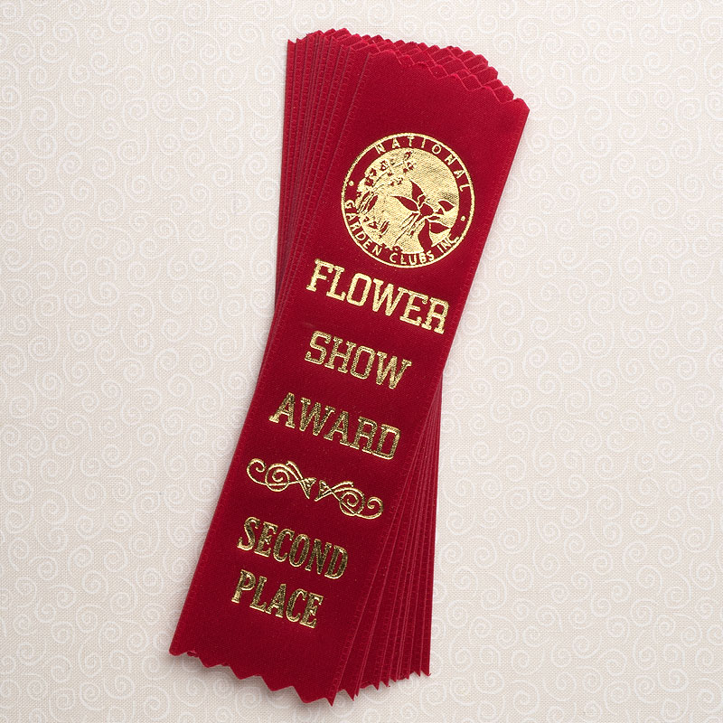 """10 Pack 6"""" Red Second Place Red Ribbons"""