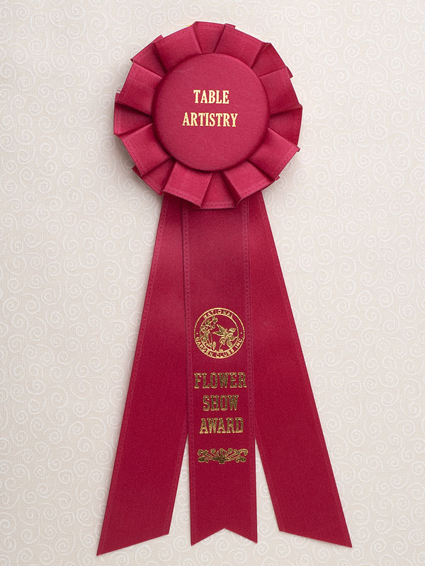 Petite Table Artistry Award Rosette