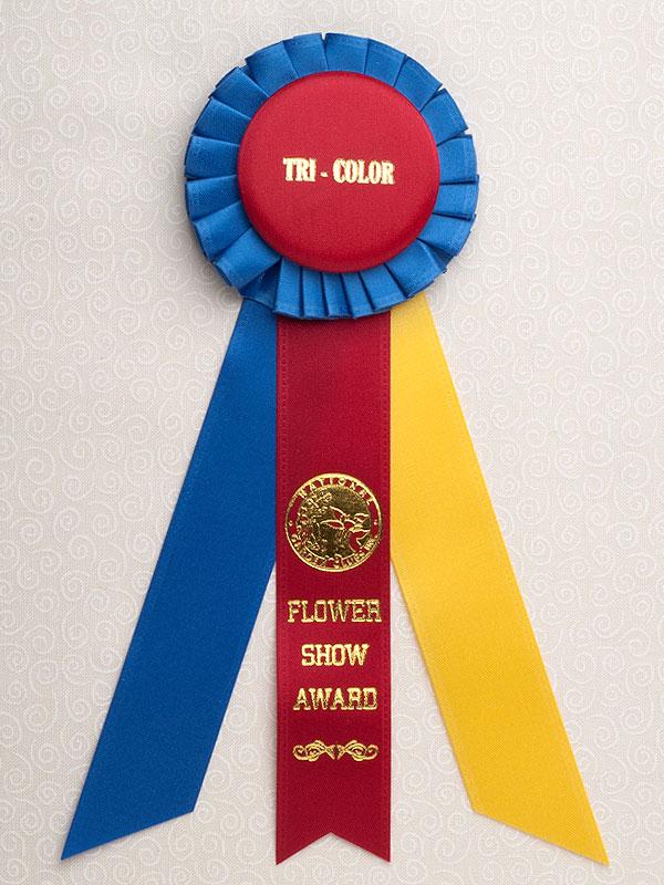 Petite Tricolor Award Rosette