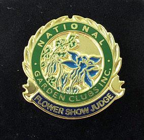 Flower Show Judge Pin