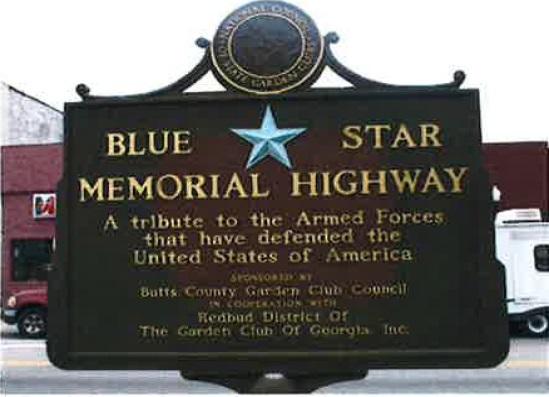 Blue Star Memorial Highway Marker