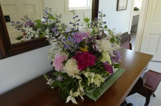 Flowers in the foyer