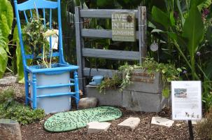 Garden using recycled materials
